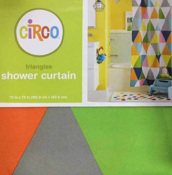 Triangles Shower Curtain  circo triangles shower curtain By Circo     Triangles Shower Curtain  circo triangles shower curtain By Circo