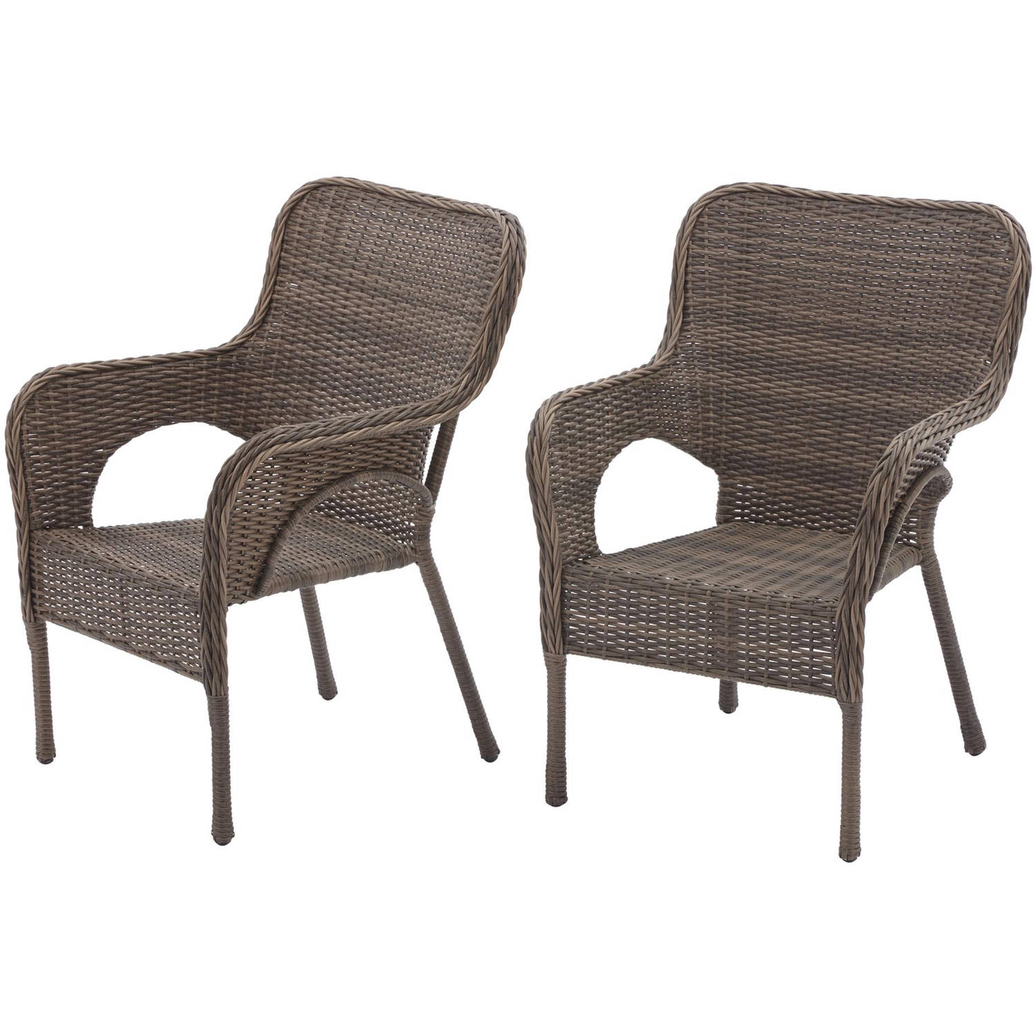 better homes and gardens camrose farmhouse mix and match stacking wicker chairs set of 2 walmart com