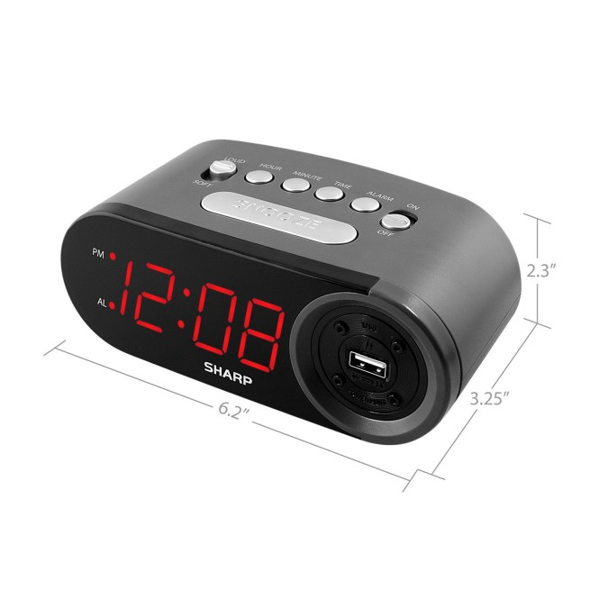Sharp Digital Alarm Clock With Loud