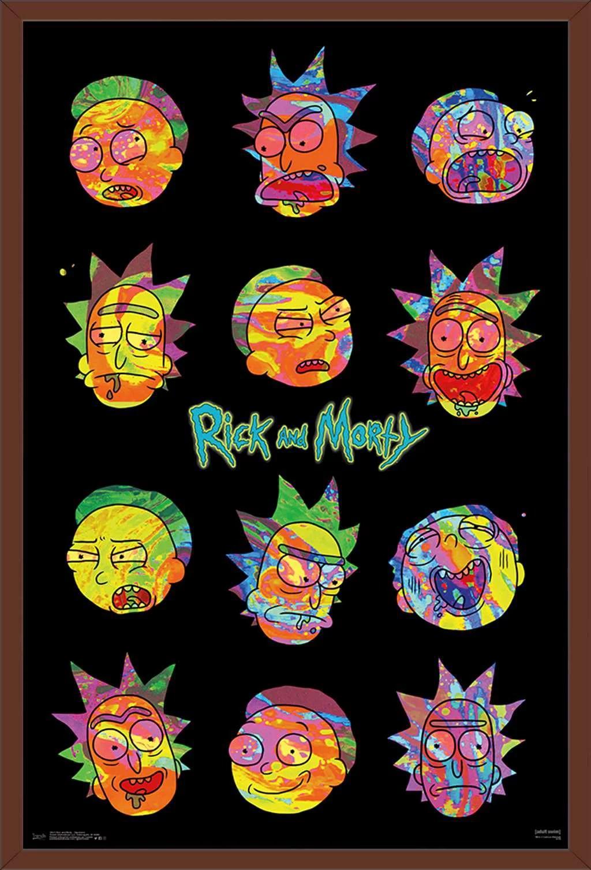 rick and morty vaporwave poster
