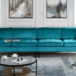 Mobilis Mid Century Modern Extra Large Microfiber Velvet Upholstered Sofa With Tufted Seats Bluemobilis Mid Century Modern Extra Large Microfiber Velvet Upholstered Sofa With Tufted Seats Blue Walmart Com Walmart Com