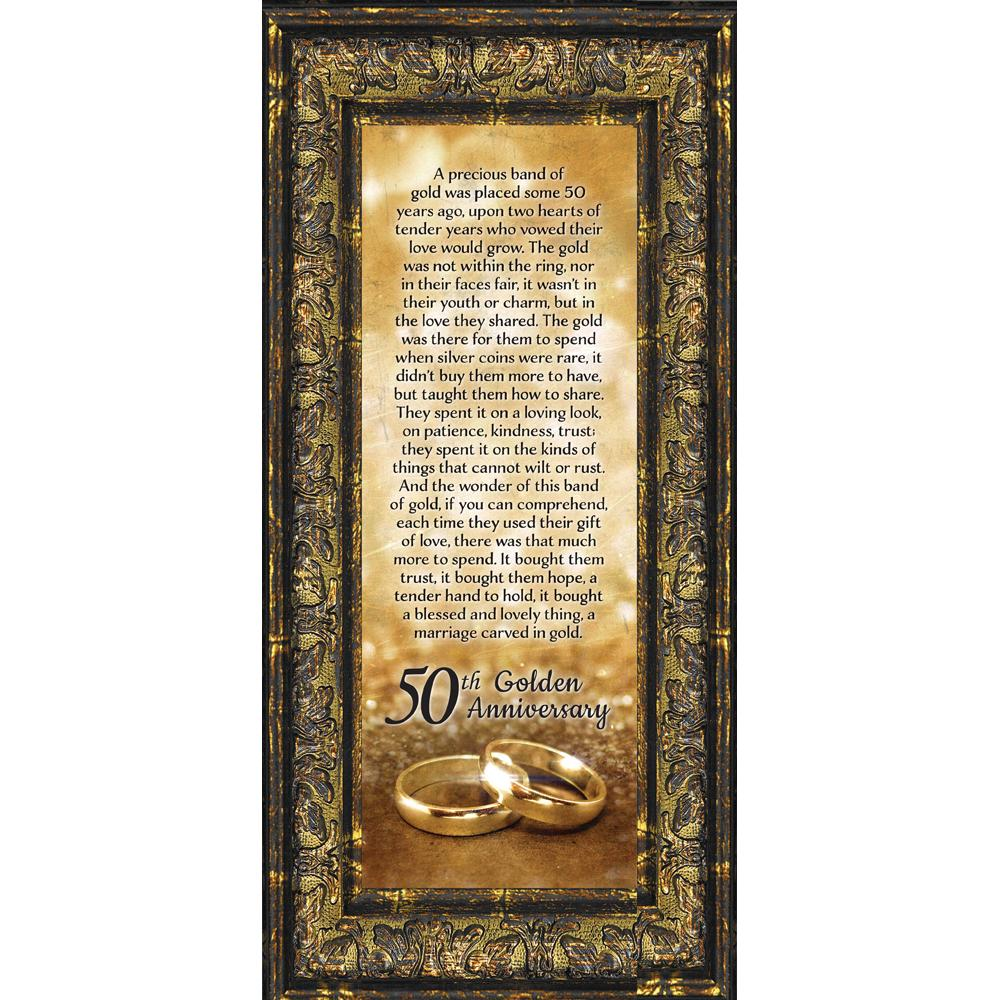 Bands Of Gold 50th Golden Wedding Anniversary Gift Picture Frame 6x12 7318 Walmart Com Walmart Com