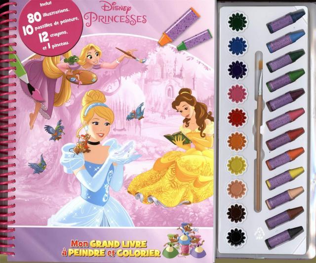 Disney Princesses : Mon GRAND LIVRE à PEINDRE et COLORIE (French