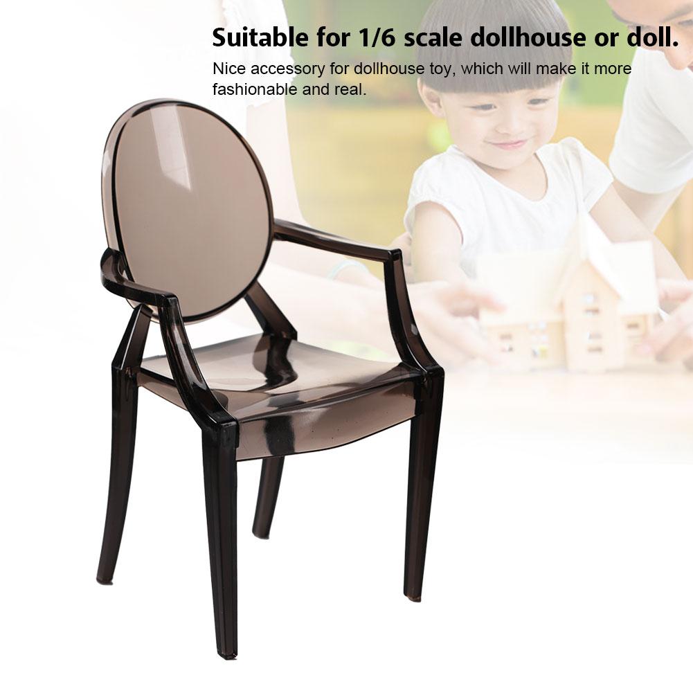 spptty meubles de modele de chaise en plastique de fauteuil miniature pour 1 6 maison accessoires de maison de poupee chaise de maison de poupee