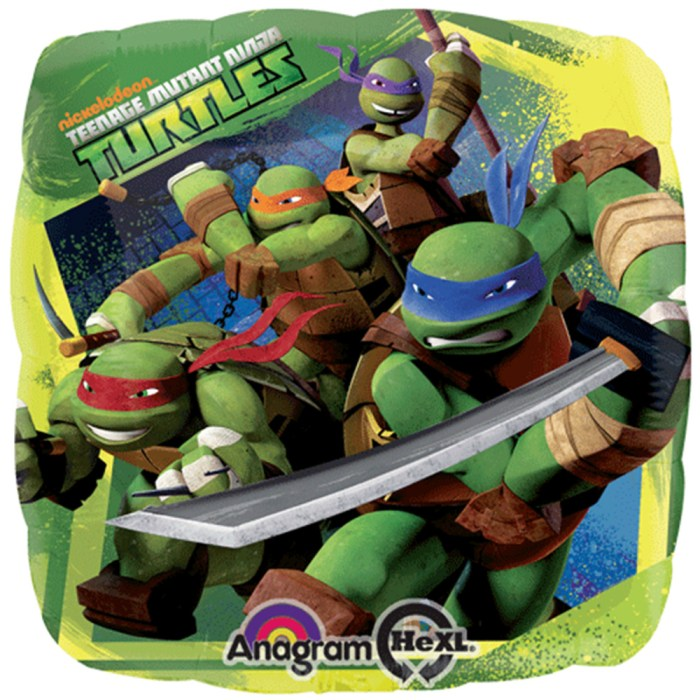 Celebrations 18 Sqr Hx: tnage Mutant Ninja Turtles