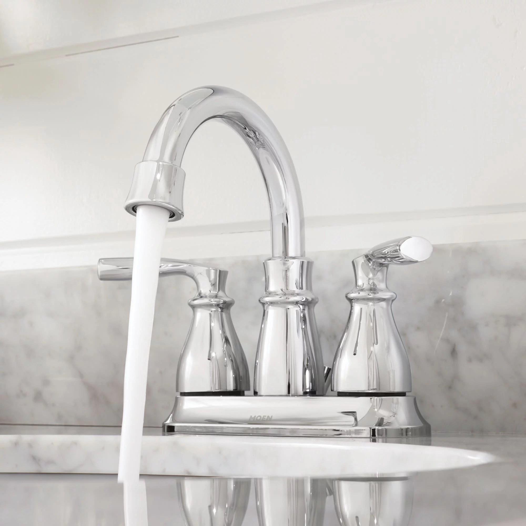 moen hilliard two handle high arc bathroom faucet