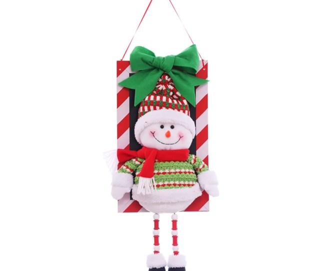 Santa Snowman Doll Pendant Christmas Tree Door Window Decorations Hanging Ornaments For Outdoor Indoor Decor Walmart Com