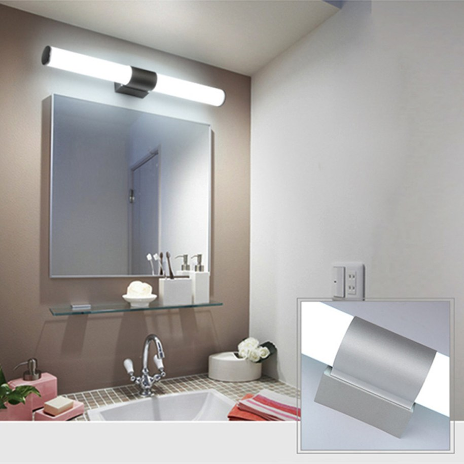 Acrylic Modern Bathroom Vanity LED Light Front Mirror LED ...