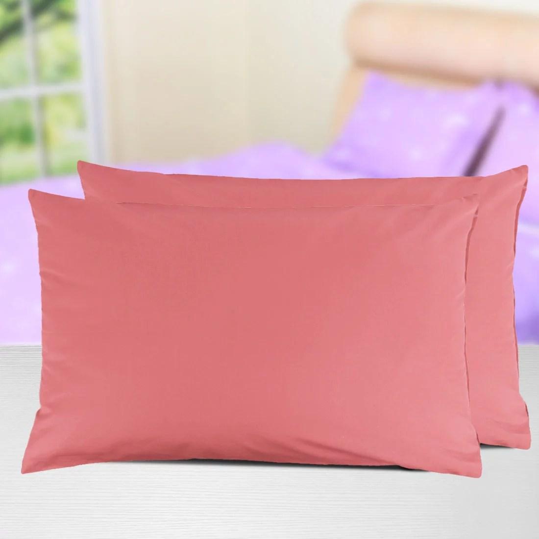 2 pcs egyptian cotton zippered pillow cases piccocasa