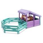 American Plastic Toys Horse Stable With Water Pail And Feeding Trough Walmart Com Walmart Com