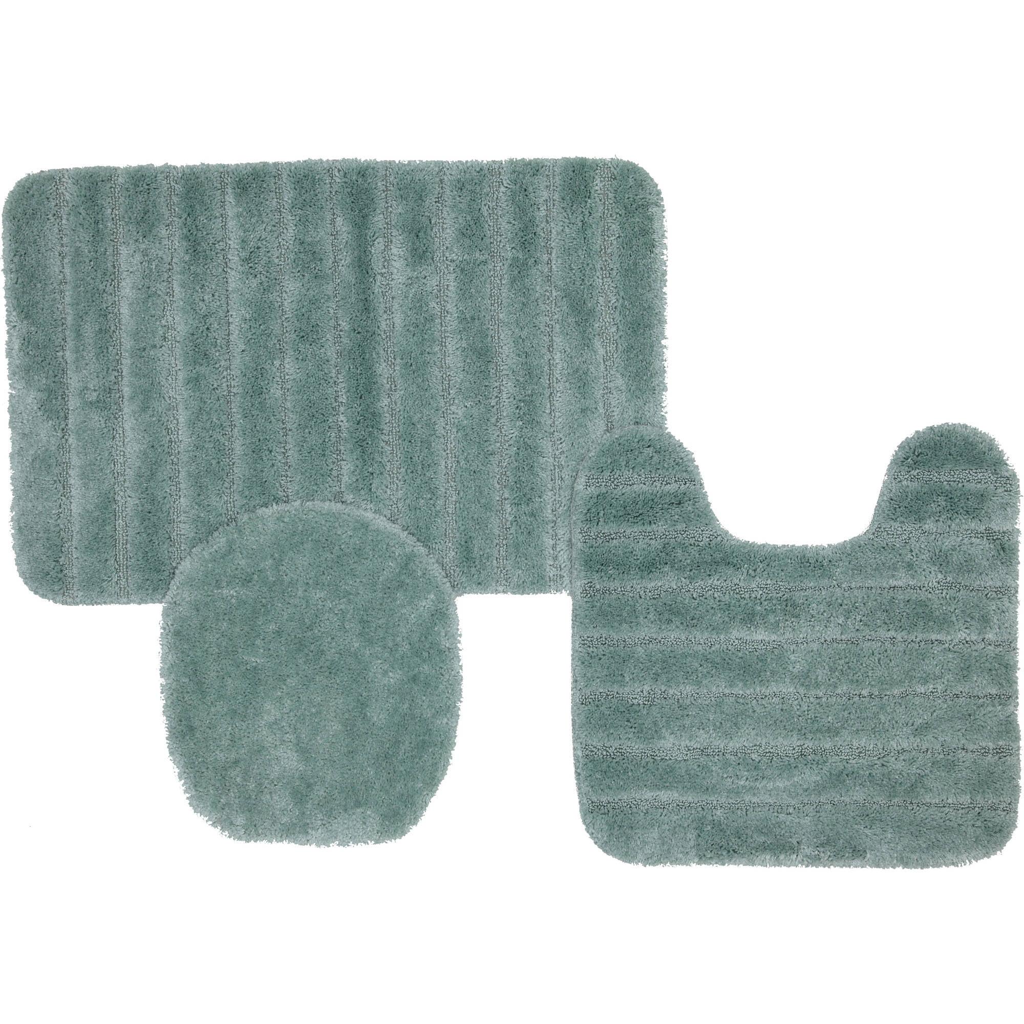 mohawk home solid stripe 3 piece nylon bath rug set on farmhouse colors for bath mats walmart id=75879