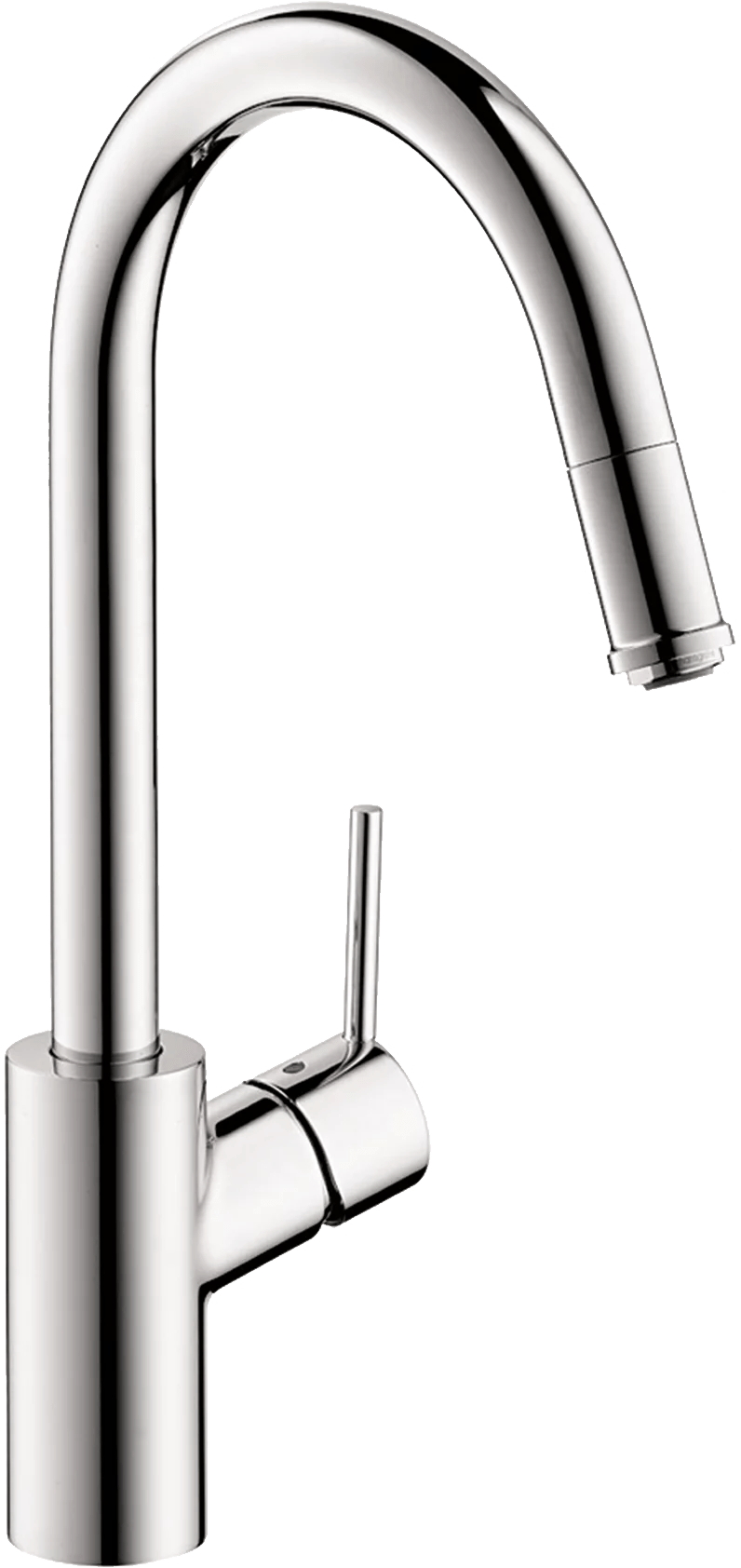 hansgrohe talis s higharc kitchen faucet 1 spray pull down 1 75 gpm in chrome