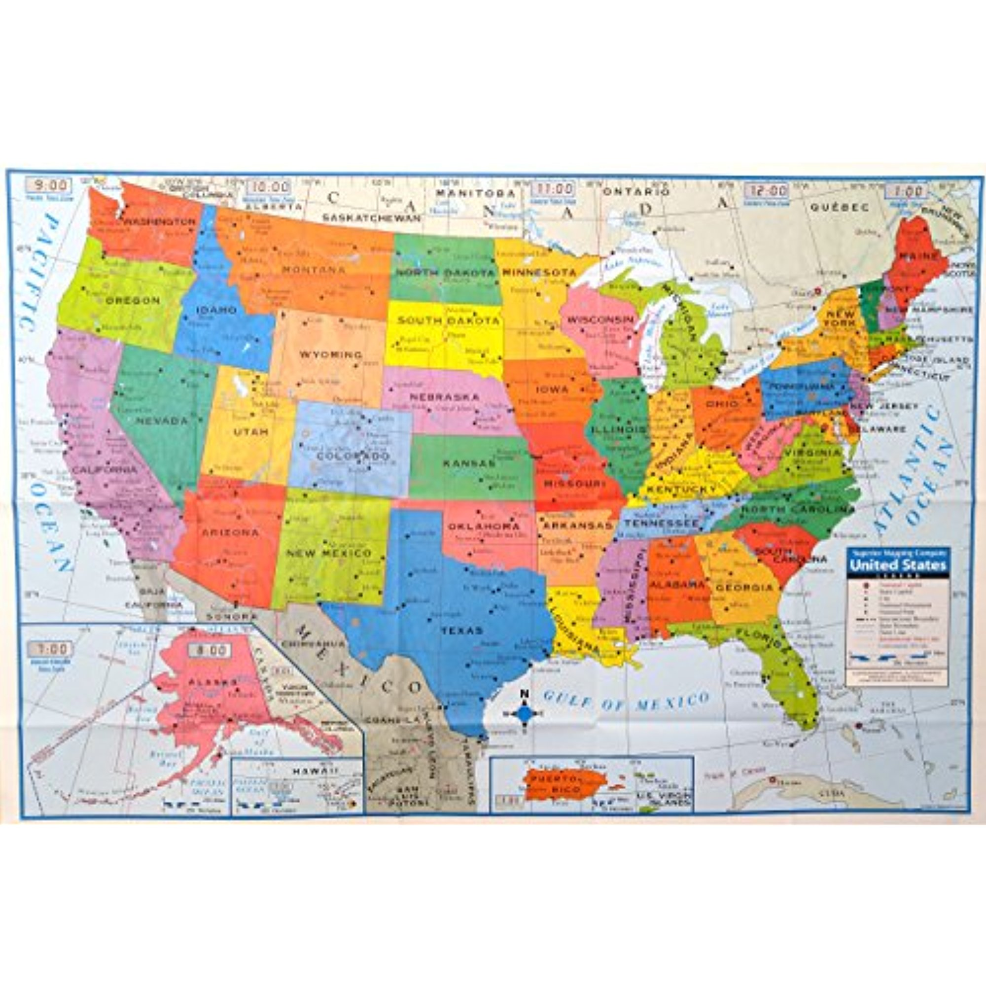 Are you wanting to learn how to print labels? Superior Mapping Company United States Poster Size Wall Map 40 X 28 With Cities 1 Map Walmart Com