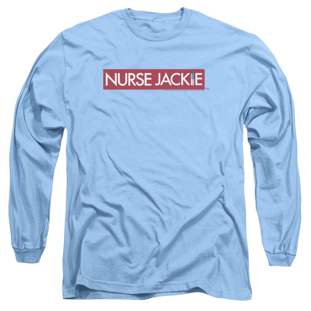 nurse jackie dark medical satire comedy tv series logo adult long sleeve t shirt