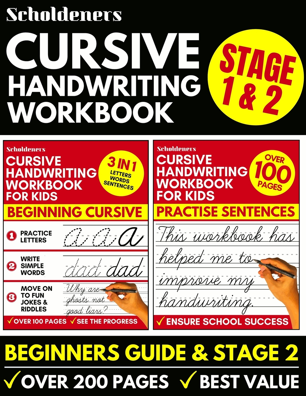 Cursive Handwriting Workbook Cursive Writing Practice