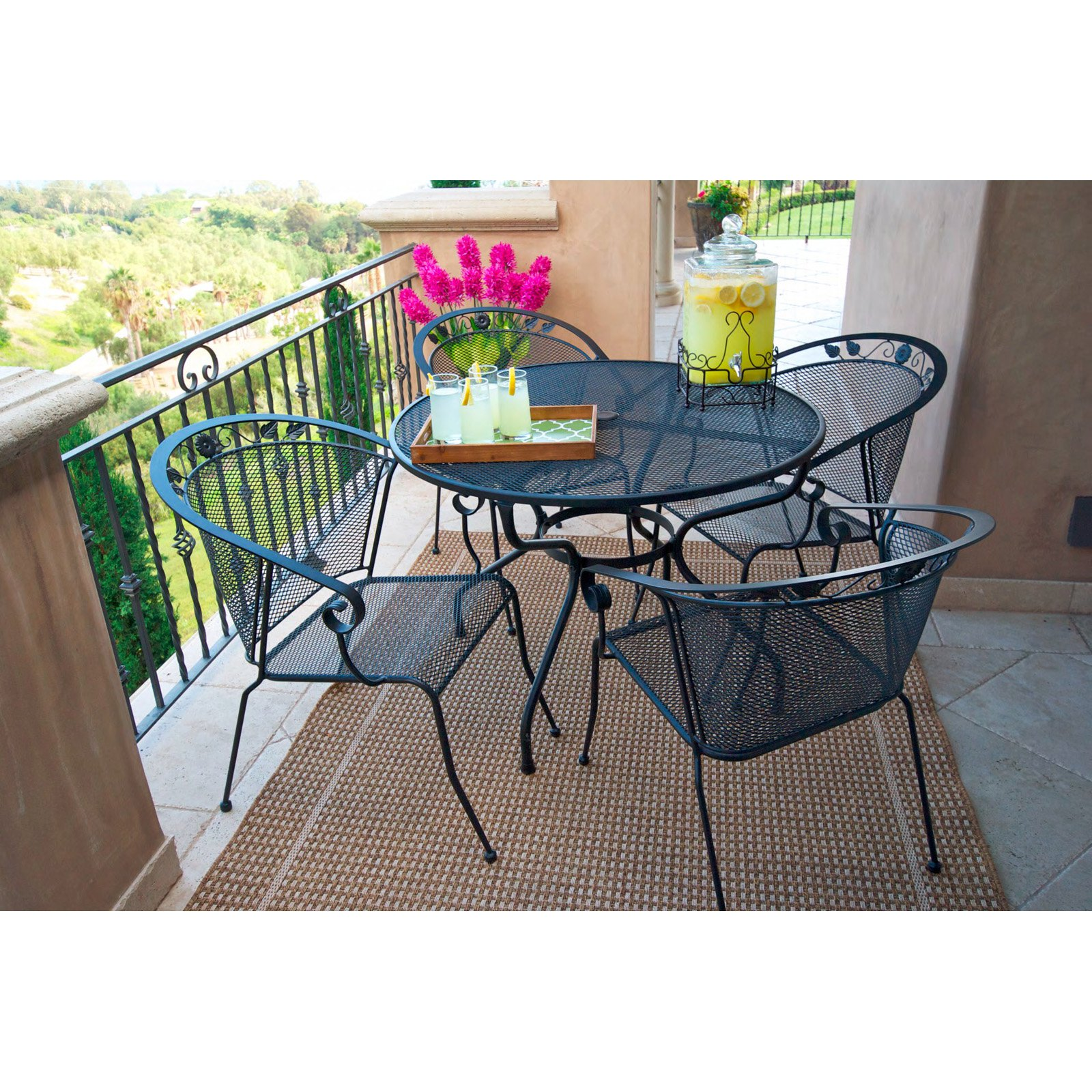 Royal Garden Oxnard Mesh Chairs Set Of 4
