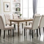 Clearance Tufted Linen Dining Chairs Set Of 2 Upholstered