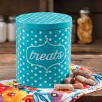 The Pioneer Woman Flea Market Dots Treat Jar Blue Walmart Com Walmart Com