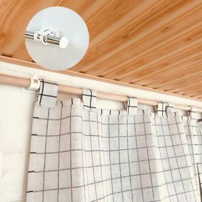 jeobest adhesive curtain rod holder curtain rod clamp bracket 2pcs self adhesive wall curtain hanging rod bracket pole curtain pole wall bracket