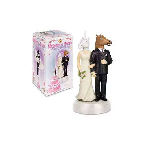 Unicorn And Horse Wedding Cake Topper By Accoutrements