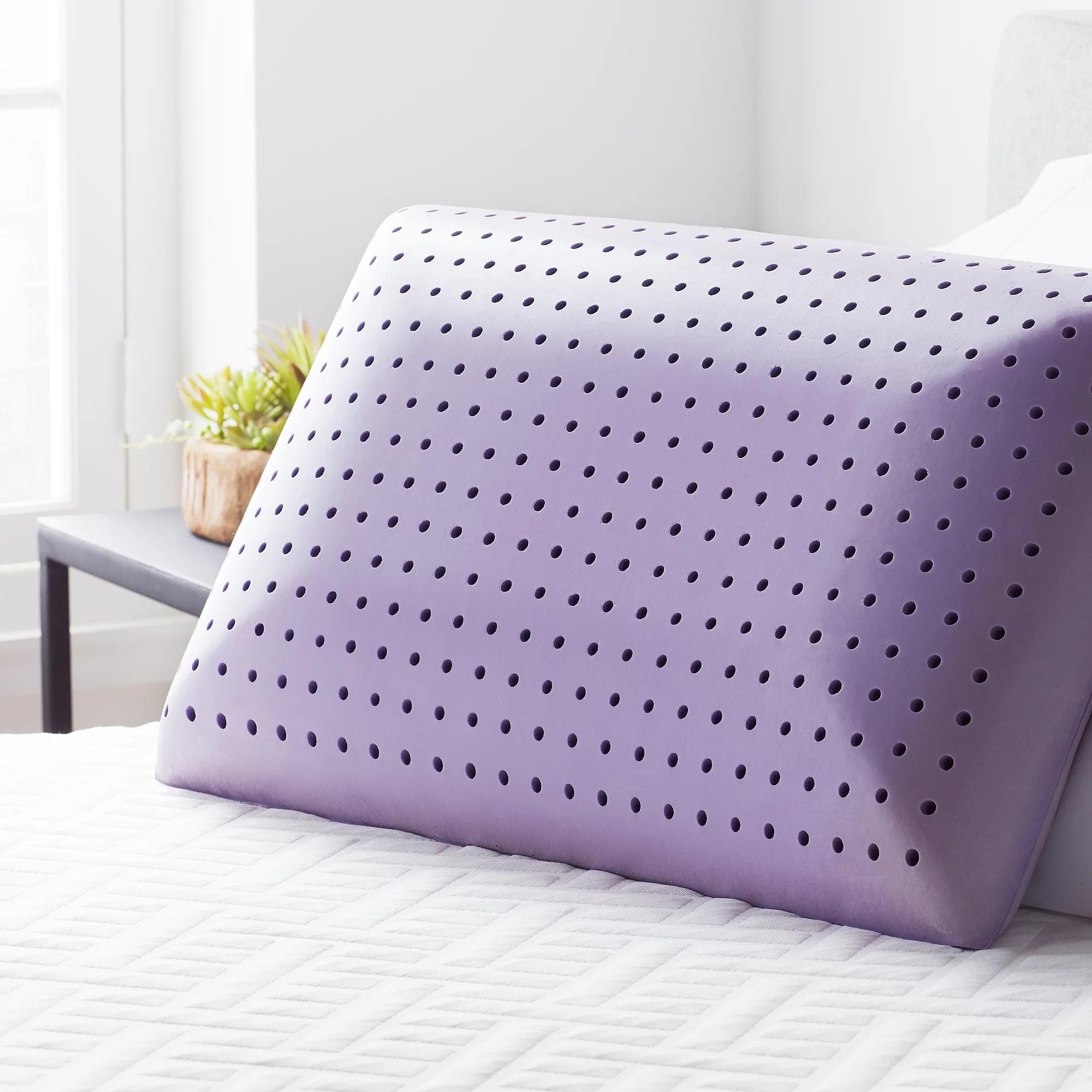 lucid calming lavender infused memory foam pillow