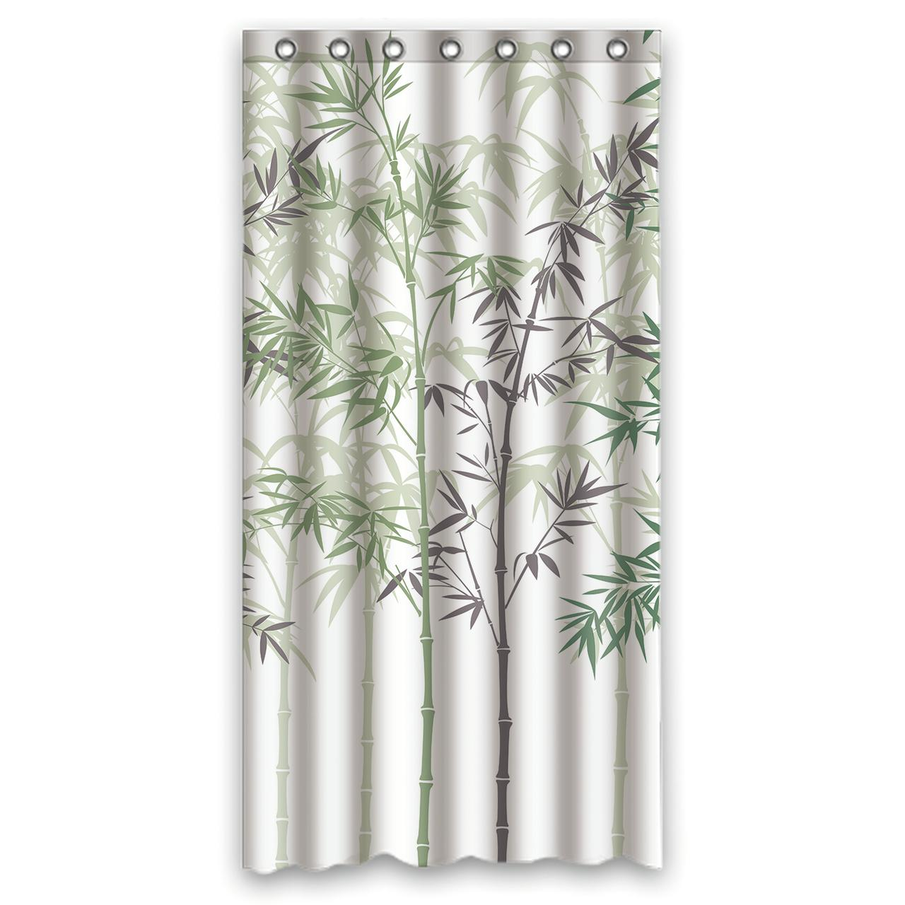 Ykcg Forest Painting Bamboo Shower Curtain Waterproof Fabric Bathroom Shower Curtain 36x72 Inches
