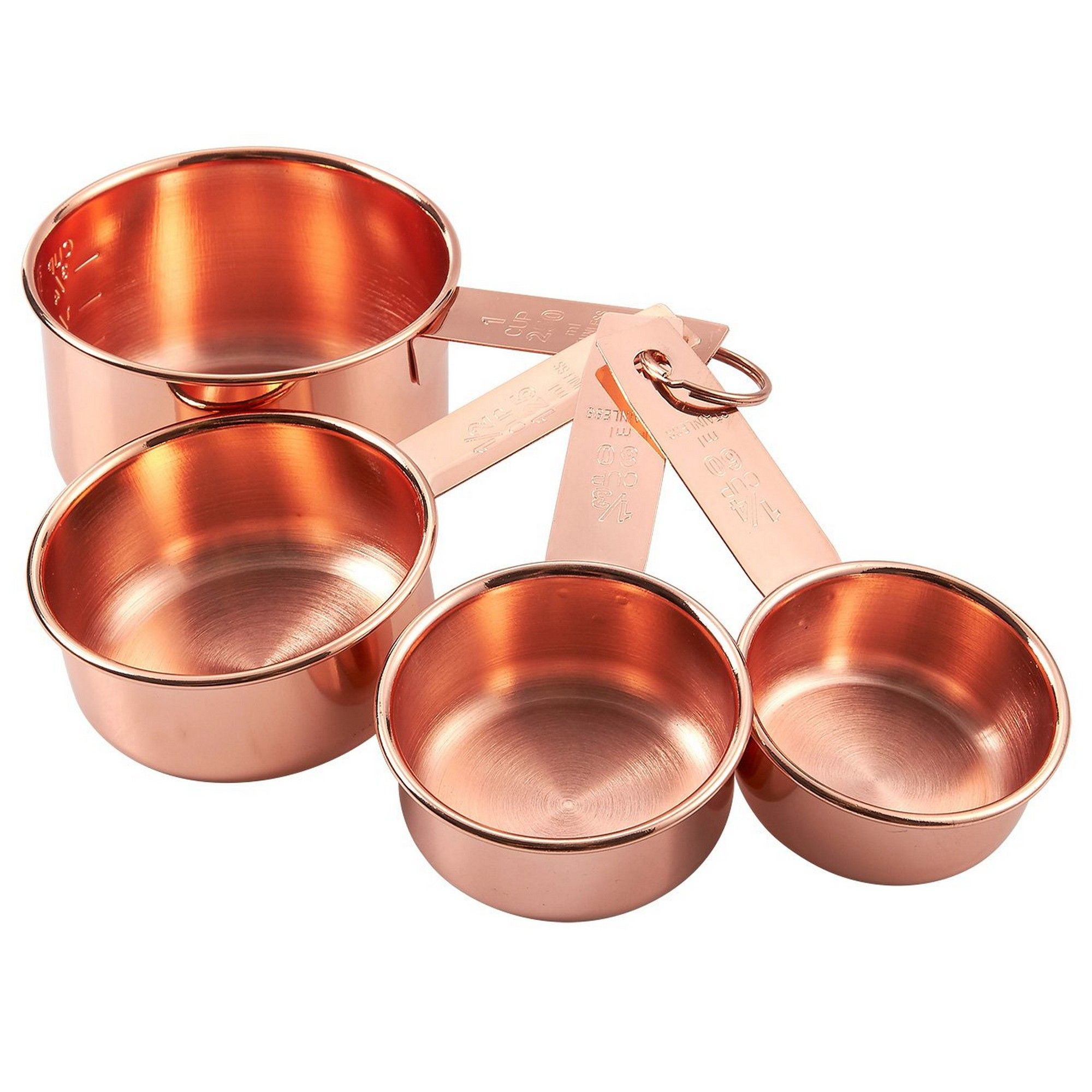 4 Piece Set Of Stainless Steel Measuring Cup Set