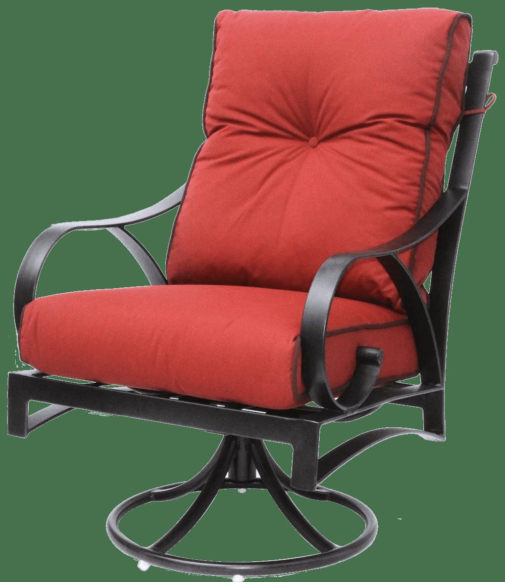 newport cast aluminum outdoor patio swivel rocker chair
