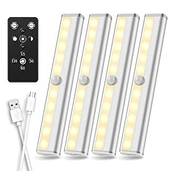 under cabinet lighting remote control rechargeable led closet light wireless under counter lighting dimmable led strip lights bar for closets