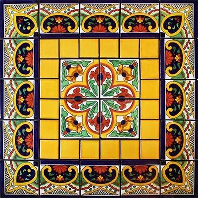 mirabel mexican tile set backsplash mural