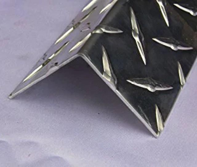 Aluminum Diamond Plate Angle  X  In Uaac