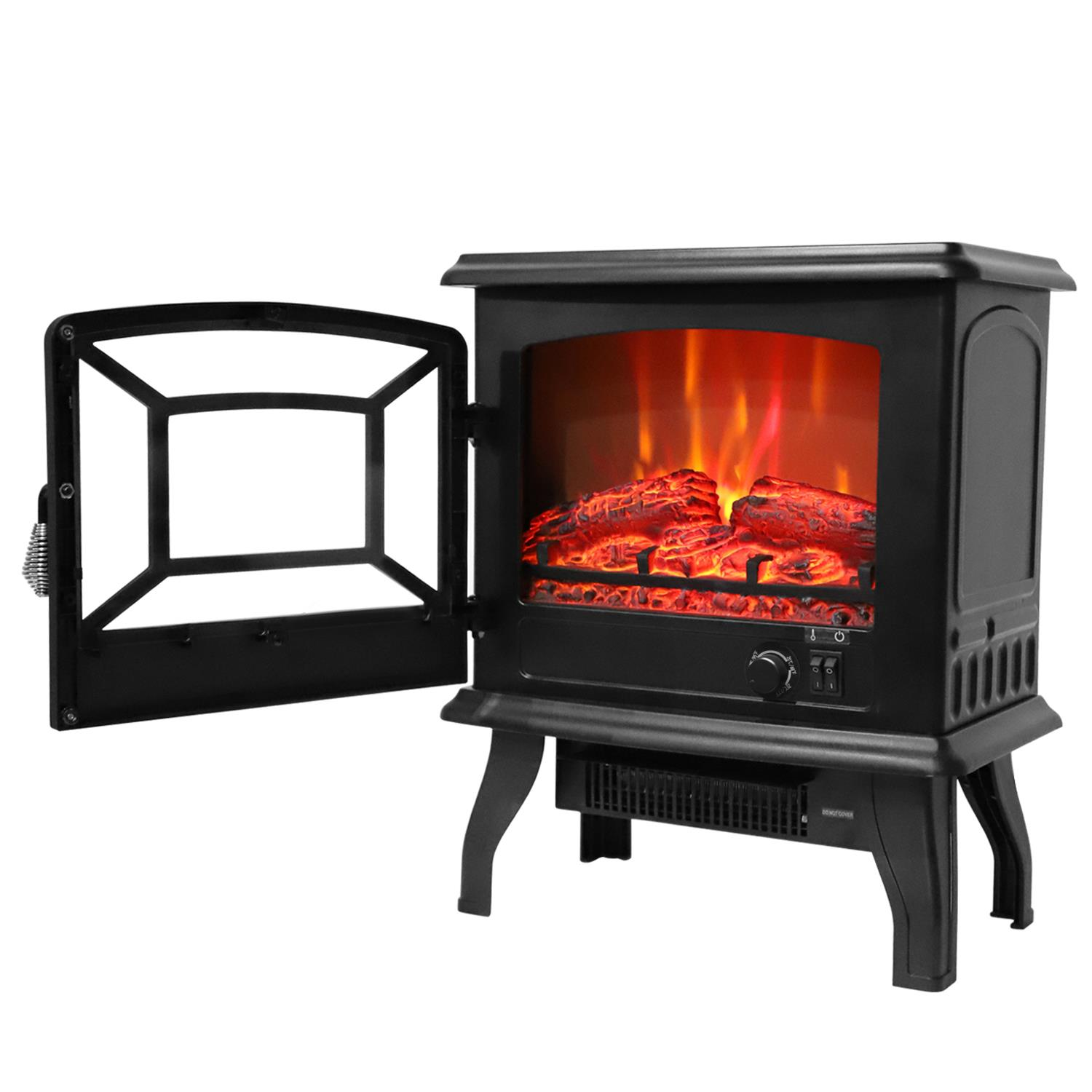 Ktaxon 17 Small Electric Fireplace Indoor Free Standing Heater Fire Flame Stove Adjustable Csa Listed Walmart Com Walmart Com