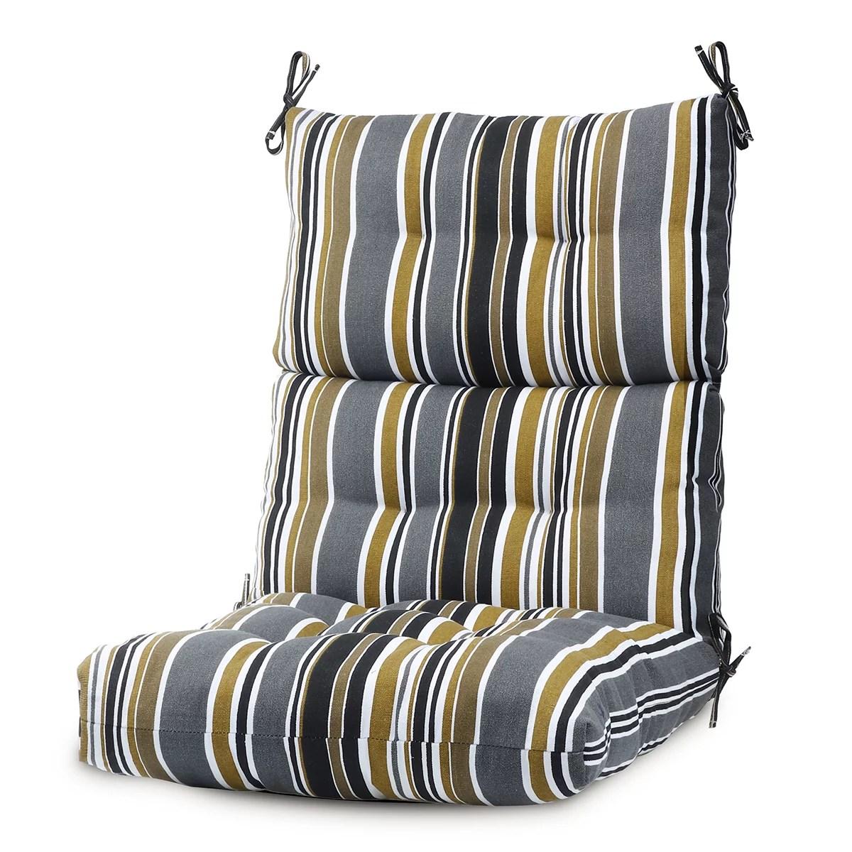 romhouse 1 2 4 pcs 44x21 inch outdoor chair cushion high back rocking chair cushions patio garden high rebound foam waterproof polyester seat cushions