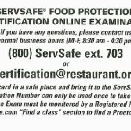 servsafe food protection manager certification | Onvacationsite.co