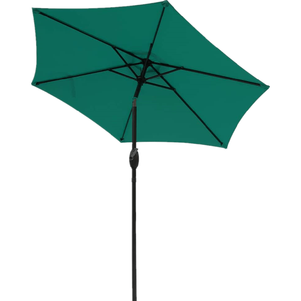 7 5 ft patio umbrella outdoor market table umbrella with crank 6 ribs polyester canopy orange
