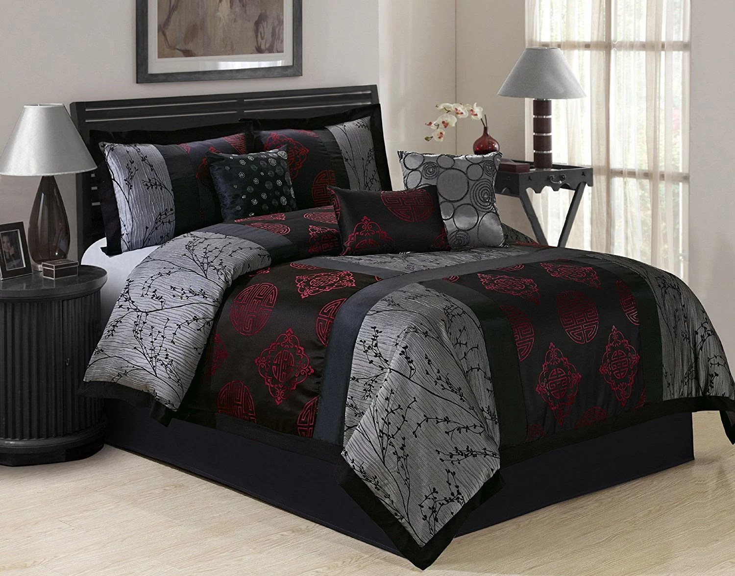 unique home shangrula 7 piece comforter bed in a bag on walmart bedroom furniture clearance id=52975