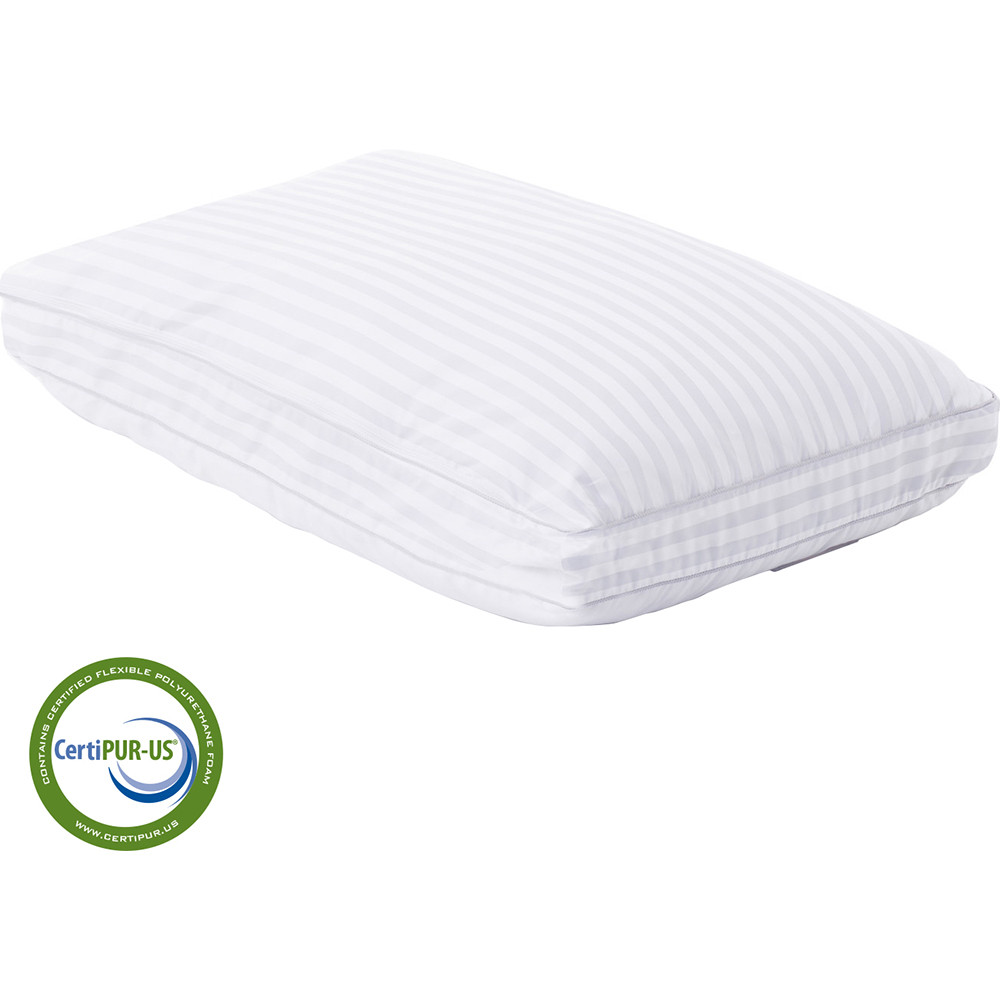 z convolution gelled microfiber with convoluted memory foam pillow