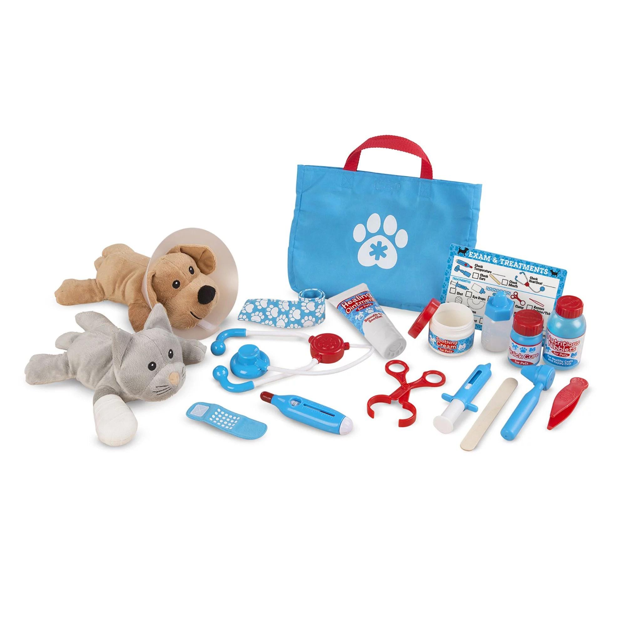 melissa doug examine and treat pet vet play set 24