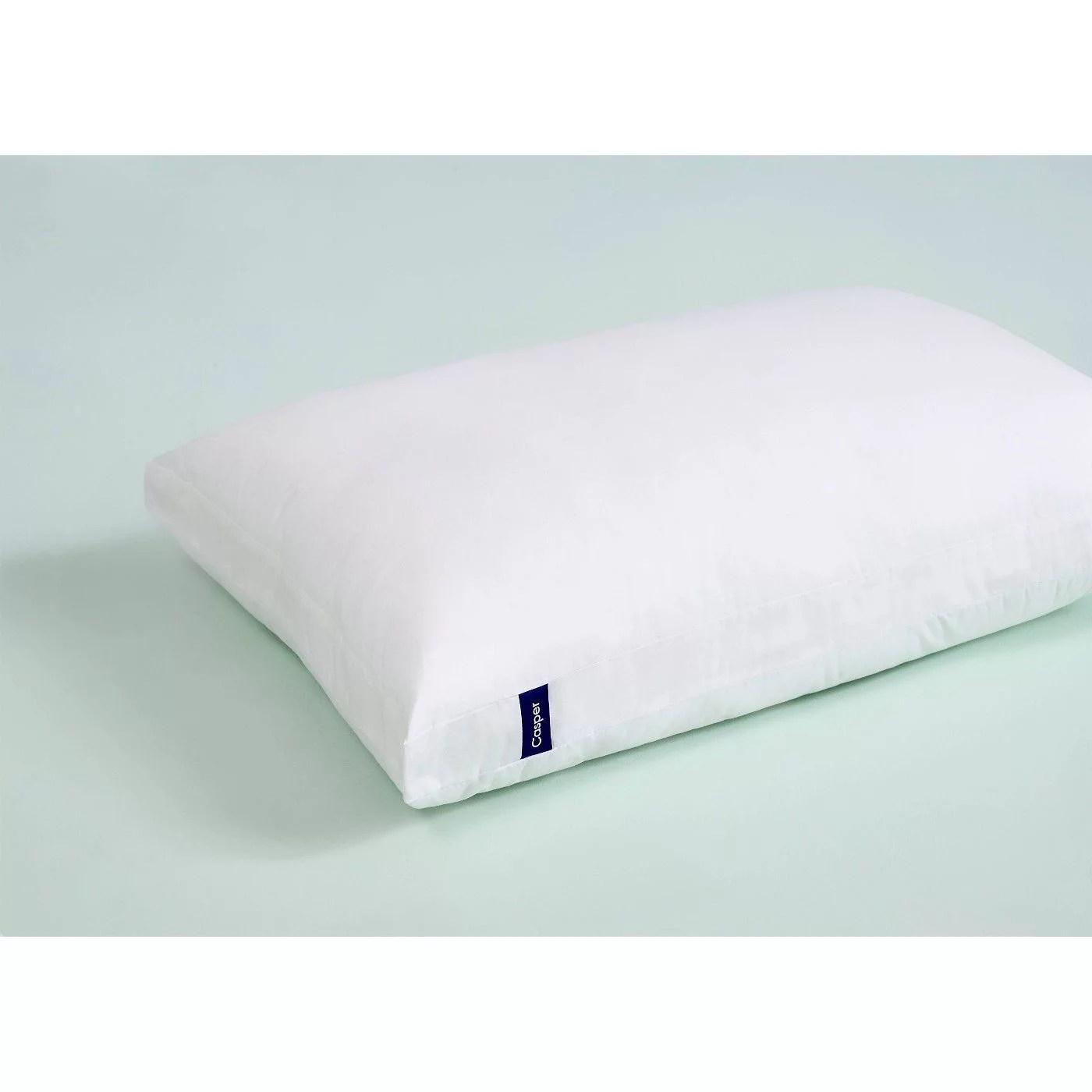 casper sleep pillow dual layer design 100 cotton cover for sleeping king white walmart com