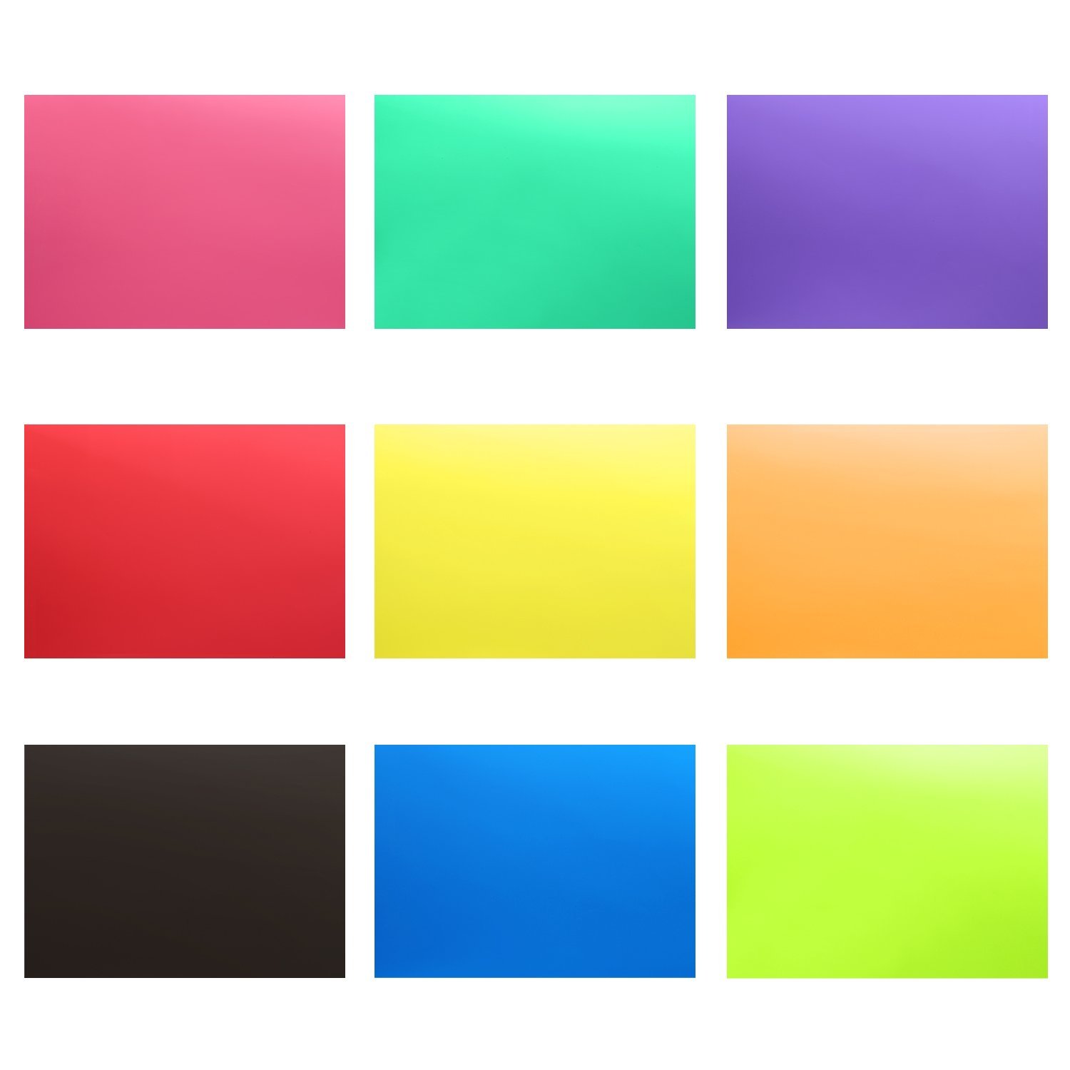 neewer 9 pieces flash lighting gel filter kit with 9 different colors 12x8 3 inches 30x21 cm transparent color correction lighting film plastic
