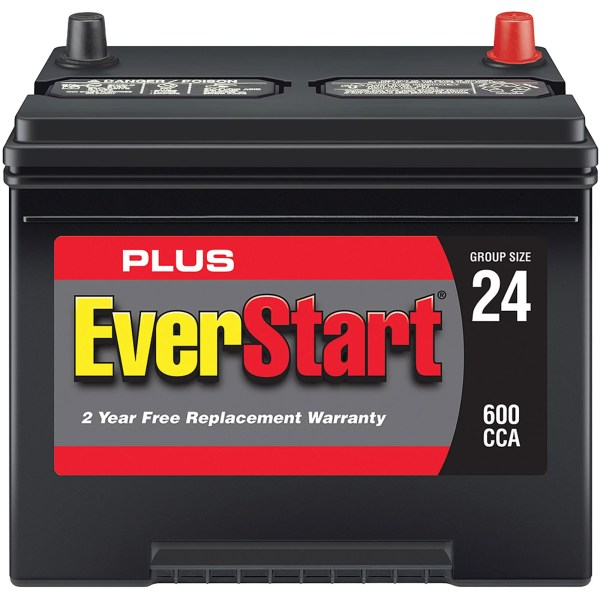 EverStart Plus Lead Acid Automotive Battery  Group 24   Walmart com
