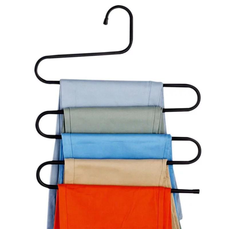 Multi-Purpose Pants Hangers 5 Layers Stainless Steel ... on Closet Space Savers Walmart  id=68483