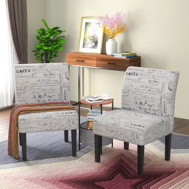 Mecor Modern Armless Accent Chairs Set of 2, Upholstered ...