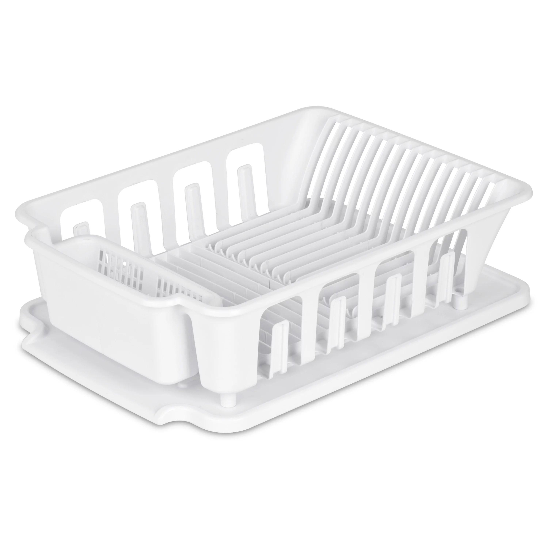 sterilite large 2 piece sink set white walmart com