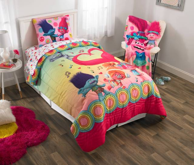 Dreamworks Trolls Show Me A Smile Poppy Bedding Collection Body Pillow