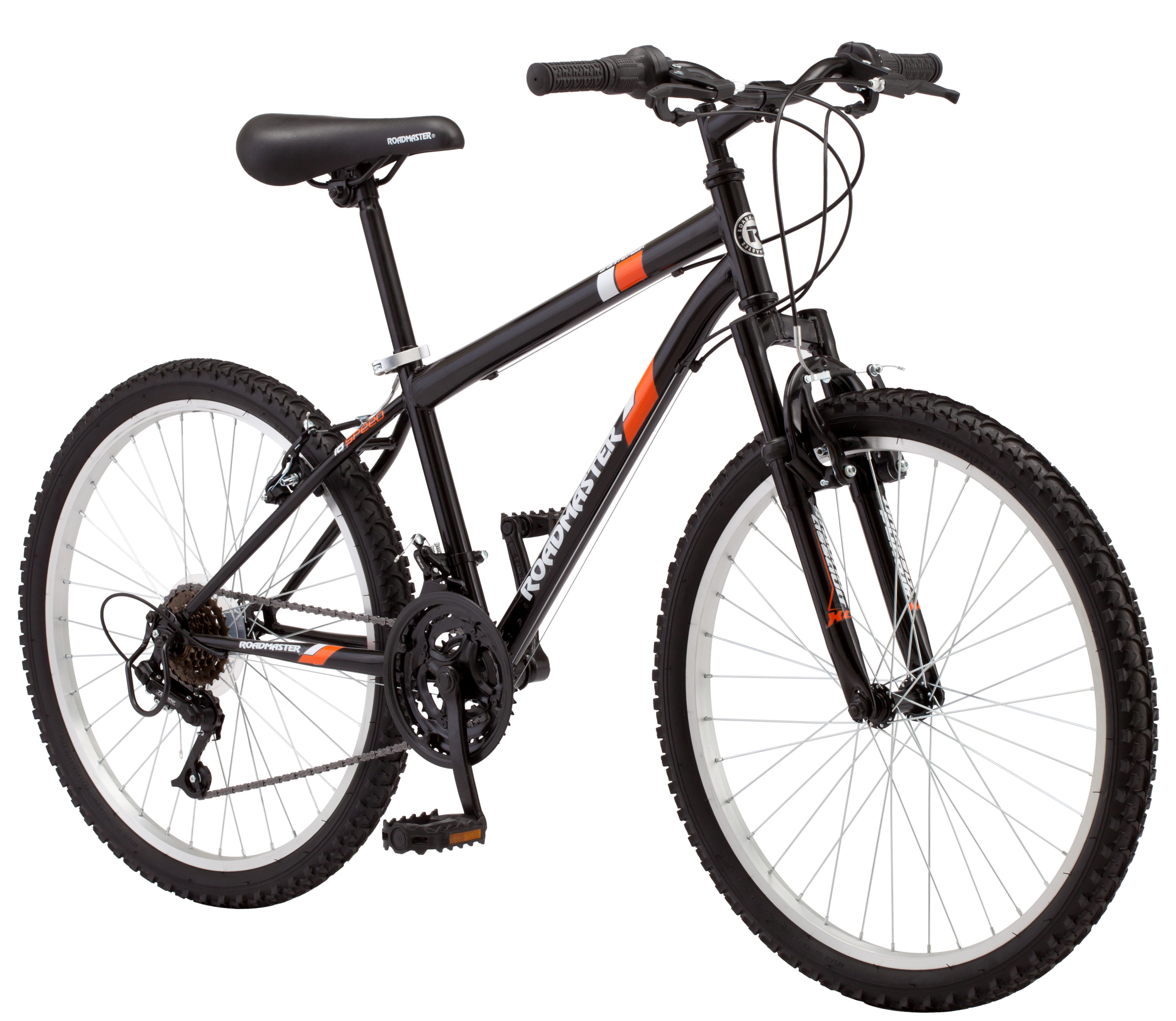 Roadmaster 24″ Granite Peak Boys Mountain Bike, Black