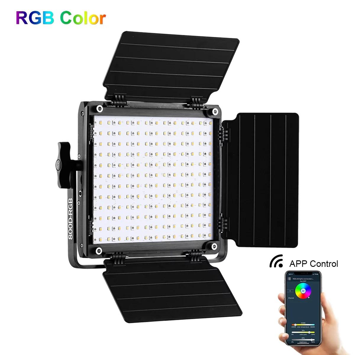 gvm 800d rgb led camera light studio video photography lighting with app control