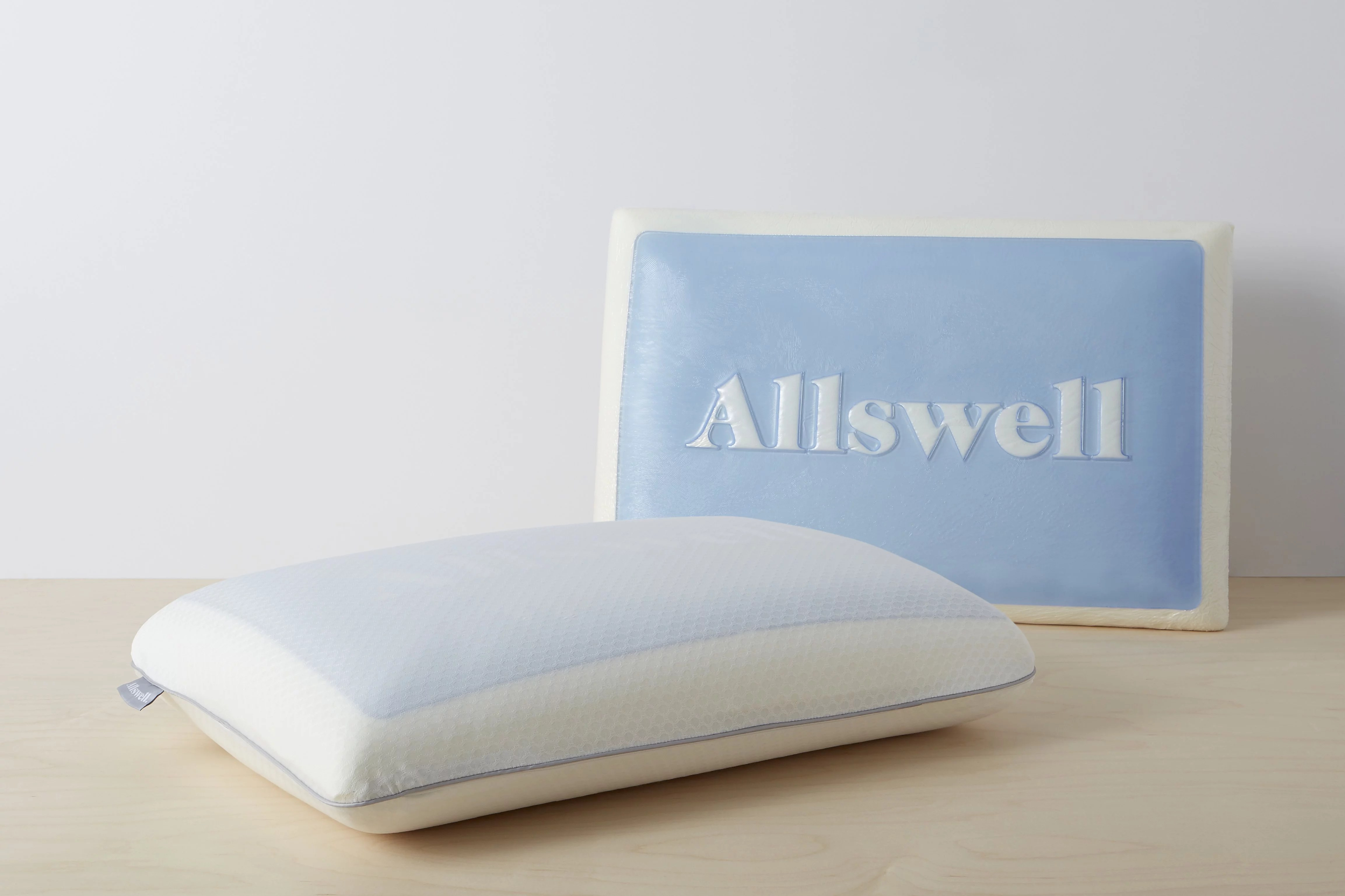 allswell memory foam cooling gel pillow with removable cover walmart com