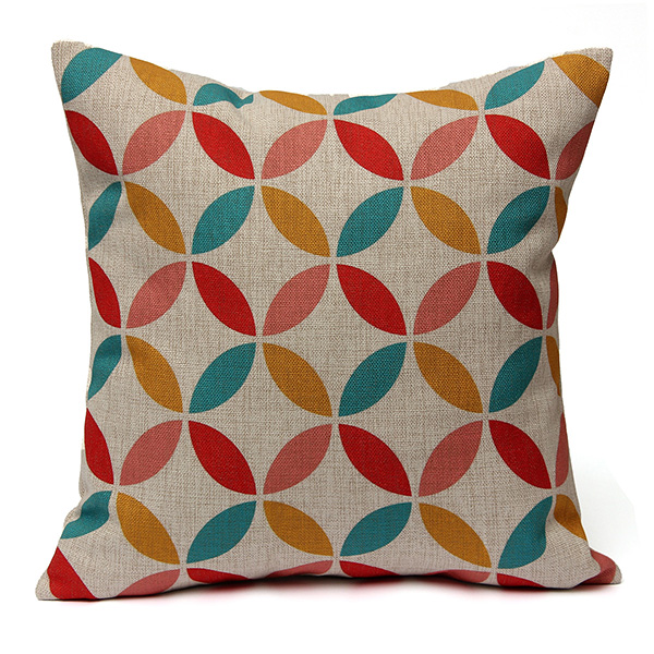 simple geometric couch cushion pillow covers 18 x18 square zippered cotton linen standard decorative throw pillow covers slip case protector for