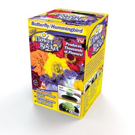 Butterfly Hummingbird Flower Rocket